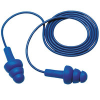 3M 340-4017 E-A-R™ UltraFit™ Blue Metal Detectable Corded Earplugs - 200/Pack