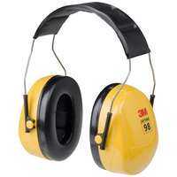 3M H9A PELTOR™ Optime™ 98 Black / Yellow Over-the-Head Earmuffs