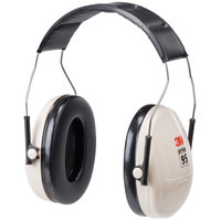 3M H6A/V PELTOR™ Optime™ 95 Black / Beige Over-the-Head Earmuffs