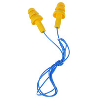 3M 340-4014 E-A-R™ UltraFit™ Yellow / Blue Corded Earplugs - 200/Pack