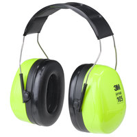 3M H10A HV PELTOR™ Optime™ 105 Black / Green Over-the-Head Earmuffs