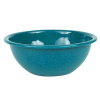 Crow Canyon Home K17TUR Stinson 20 oz. Turquoise Speckle Enamelware Bowl