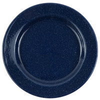 Crow Canyon Home K20NVY Stinson 10 1/4 inch Navy Speckle Wide Rim Enamelware Plate