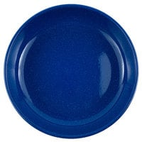 Crow Canyon Home K114MBU Stinson 10 1/2 inch Medium Blue Speckle Enamelware Pasta Plate