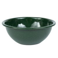 Crow Canyon Home K17GRN Stinson 20 oz. Forest Green Speckle Enamelware Bowl