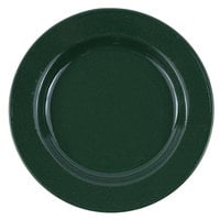 Crow Canyon Home K99GRN Stinson 8 inch Forest Green Speckle Wide Rim Enamelware Salad Plate