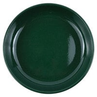 Crow Canyon Home K114GRN Stinson 10 1/2 inch Forest Green Speckle Enamelware Pasta Plate