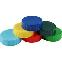 FIFO Innovations 280-1794 Assorted Identification Label Caps for FIFO Squeeze Bottles   - 6/Pack