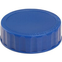 FIFO Innovations 280-1639 Dark Blue Identification Label Cap for FIFO Squeeze Bottles - 6/Pack
