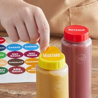 FIFO Innovations Sauce Identification Squeeze Bottle Cap Label Set