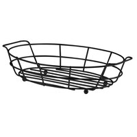 Vollrath WB-8006-06 7 1/8 inch x 10 1/2 inch Black Oval Wire Basket