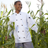 Uncommon Threads Moroccan 0405 Unisex White Customizable Long Sleeve Chef Coat - L