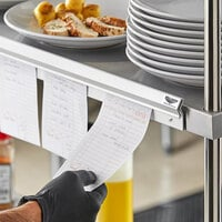 Vollrath 2524 24 inch x 2 inch Aluminum Wall Mounted Ticket Holder