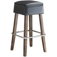 Lancaster Table & Seating Sofia Vintage Finish Backless Barstool with Padded Seat
