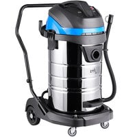 Lavex Janitorial 21 Gallon Stainless Steel Industrial Wet / Dry Vacuum with Toolkit - 100-120V, 1400W
