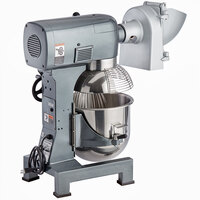Avantco MX20SHSLK 20 Qt. Gear-Driven Commercial Planetary Stand Mixer with Guard and Shredder / Slicer Attachment - 120V, 1 1/2 hp