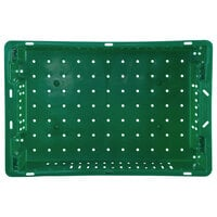 Orbis AF2013-6 Stack-N-Nest Green Agricultural Vented Crate - 20 inch x 13 inch x 5 5/8 inch