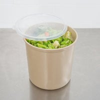 Cambro CP27133 2.7 Qt. Beige Round Crock with Lid