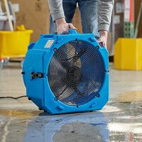 Lavex Janitorial 2-Speed Industrial Axial Fan with GFCI Power Outlets - 1/2 hp