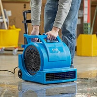 Lavex Janitorial 3-Speed Commercial Air Mover with Telescoping Handle and Wheels - 1 hp