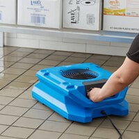 Lavex Janitorial Variable Speed Low Profile Air Mover with GFCI Power Outlets - 1/4 hp