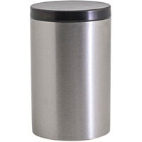 Front of the House RJR028BSS23 10 oz. Round Brushed Stainless Steel Jar with Matte Black Lid - 12/Case