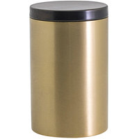 Front of the House RJR028GOS23 10 oz. Round Matte Brass Stainless Steel Jar with Matte Black Lid - 12/Case