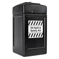 Commercial Zone 739401 42 Gallon Black Rectangular Oil Spill and Safety Kit Container