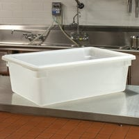 Cambro 18269P148 26 inch x 18 inch x 9 inch White Poly Food Storage Box