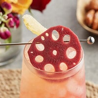 Wild Hibiscus 2.4 lb. Lotus Root in Hibiscus and Ginger Syrup