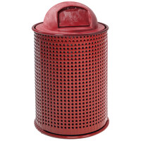 Wabash Valley LR300P Wabash 32 Gallon Perforated Thermoplastic Coated Steel Mesh Outdoor Trash Receptacle
