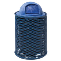 Wabash Valley LR300D Wabash 32 Gallon Diamond Pattern Thermoplastic Coated Steel Mesh Outdoor Trash Receptacle