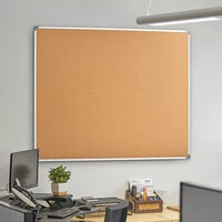 Dynamic by 360 Office Furniture 60 inch x 48 inch Wall-Mount Cork Board with Aluminum Frame