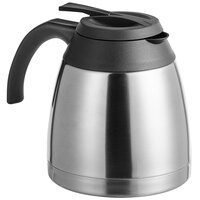 Choice 51 oz. Stainless Steel Round Thermal Carafe / Server