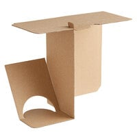 Sabert 20003 10 inch x 5 inch x 13 inch 1 Meal Cardboard Insert for Tamper-Evident Delivery Bag - 100/Case
