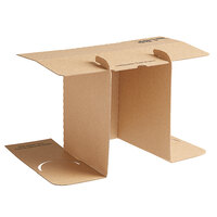 Sabert 20004 13 inch x 7 inch x 13 inch 2 Meal Cardboard Insert for Tamper-Evident Delivery Bag - 100/Case