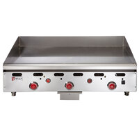 Wolf ASA36-30C Liquid Propane Deep 36 inch Chrome Griddle with Thermostatic Controls - 81,000 BTU