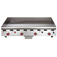 Wolf ASA48-30C Liquid Propane Deep 48 inch Chrome Griddle with Thermostatic Controls - 108,000 BTU