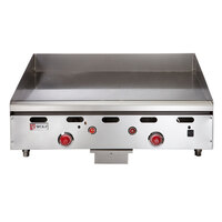 Wolf ASA24-30C Natural Gas Deep 24 inch Chrome Griddle with Thermostatic Controls - 54,000 BTU