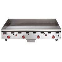 Wolf ASA48-24C Natural Gas 48 inch Chrome Griddle with Thermostatic Controls - 108,000 BTU