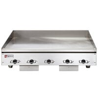 Wolf WEG60E-24C 60 inch Electric Countertop Griddle with Snap-Action Thermostatic Controls and Chrome Plate - 208V, 1 Phase, 27 kW