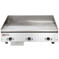 Wolf WEG36E-24C 36 inch Electric Countertop Griddle with Snap-Action Thermostatic Controls and Chrome Plate - 240V, 3 Phase, 16.2 kW