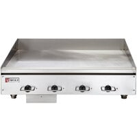 Wolf WEG48E-24C 48 inch Electric Countertop Griddle with Snap-Action Thermostatic Controls and Chrome Plate - 240V, 1 Phase, 21.6 kW