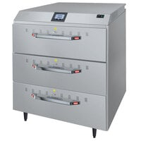 Hatco HDWTC-3 Freestanding Three Drawer Warmer with Touchscreen Controls - 120V, 1055W