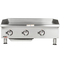 APW Wyott EG-36S 36 inch Electric Countertop Griddle - 208V