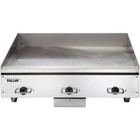 Vulcan HEG36E-24C 36 inch Electric Chrome Top Restaurant Griddle with Snap-Action Thermostatic Controls - 208V, 1 Phase, 16.2 kW