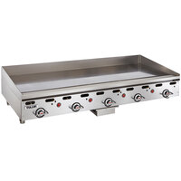 Vulcan MSA60-24C 60 inch Liquid Propane Chrome Top Commercial Griddle / Grill with Snap-Action Thermostatic Controls - 135,000 BTU