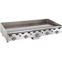 Vulcan MSA60-30C 60 inch Liquid Propane Chrome Top Commercial Griddle / Grill with Snap-Action Thermostatic Controls and Extra Deep Plate - 135,000 BTU