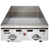 Vulcan MSA24-24C 24 inch Natural Gas Chrome Top Commercial Griddle / Grill with Snap-Action Thermostatic Controls - 54,000 BTU