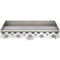 Vulcan MSA60-24C 60 inch Natural Gas Chrome Top Commercial Griddle / Grill with Snap-Action Thermostatic Controls - 135,000 BTU